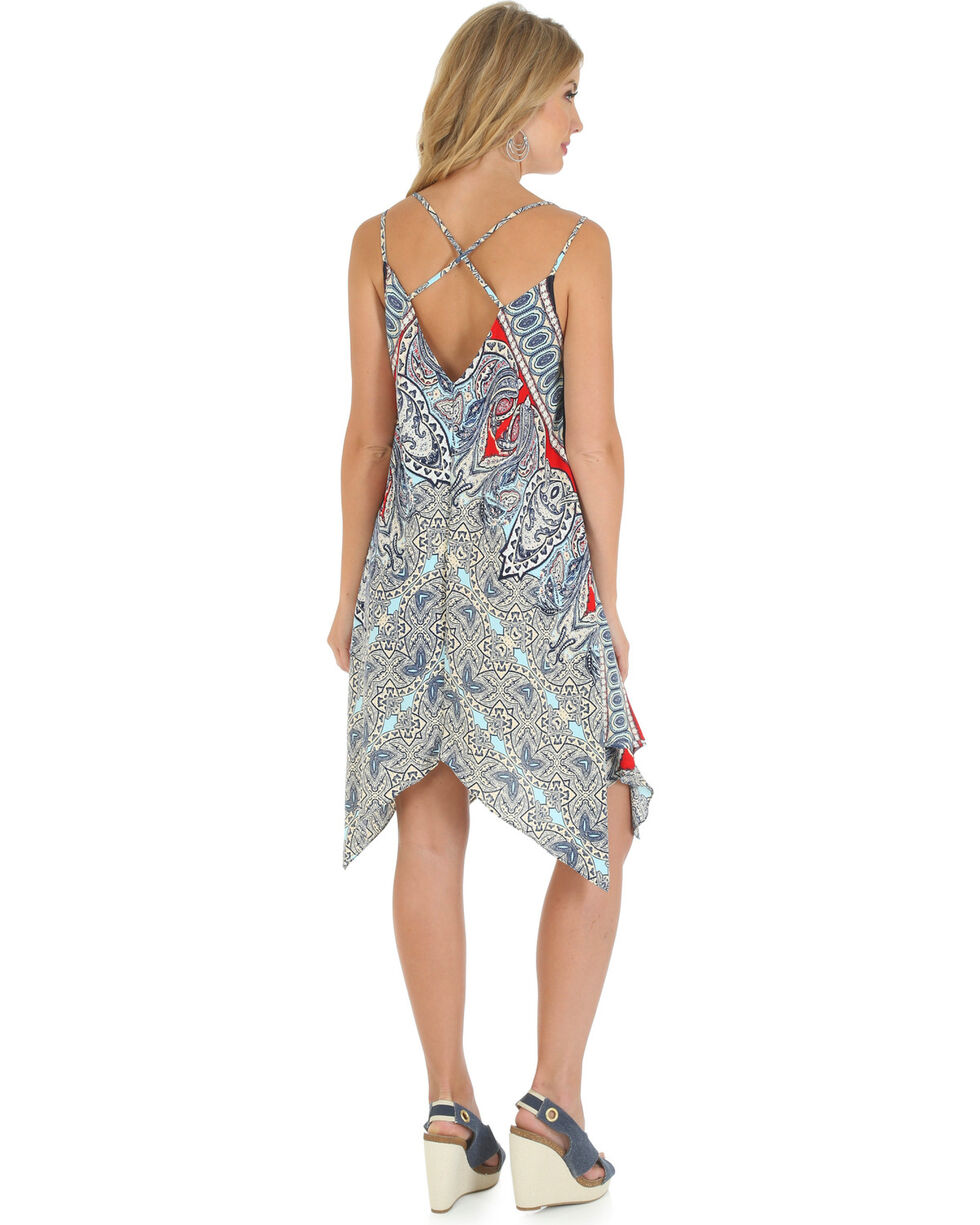 Wrangler Women's Strappy Maxi Dress, Blue, hi-res