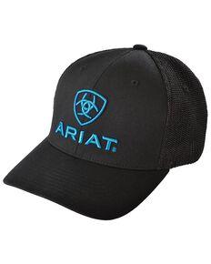 Ariat Men's Blue Logo Embroidered Cap, Black, hi-res