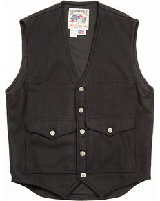 Schaefer Outfitter Men's Black Scout Melton Wool Vest - 2XL, Black, hi-res