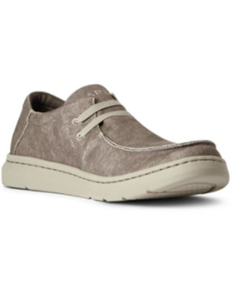 Ariat Women's Brown Canvas Casual Stretch Hilo - Moc Toe , Brown, hi-res