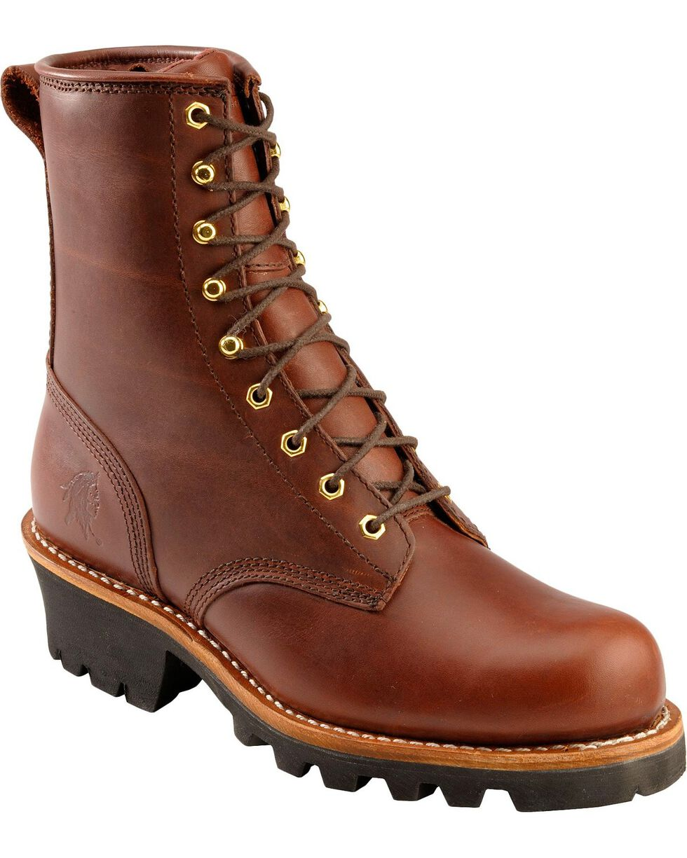 Chippewa Women's Logger Work Boots, Redwood, hi-res