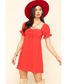 Show Me Your Mumu Women's Red Tango Della Mini Dress, Red, hi-res
