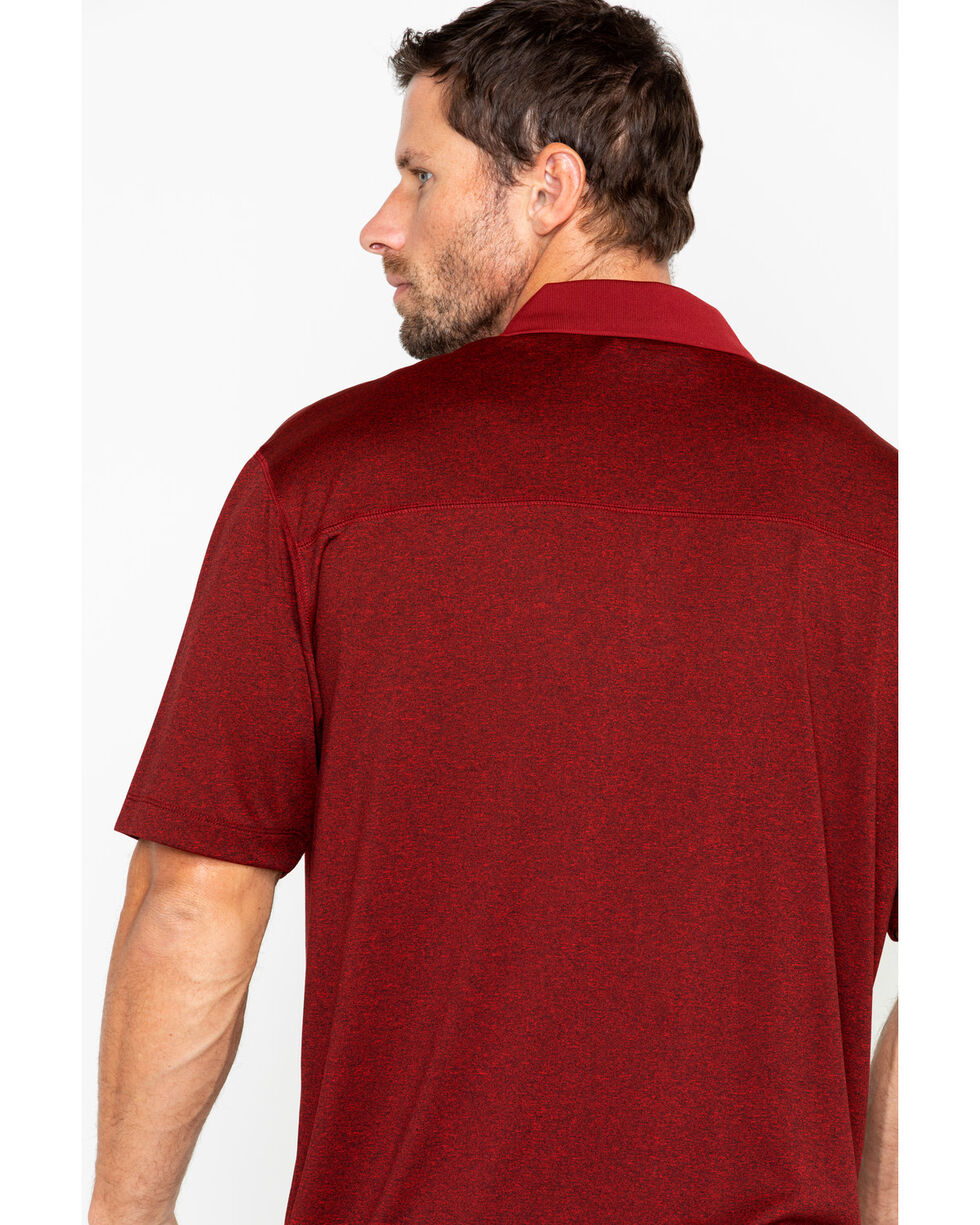 Cody James Men's Red Short Sleeve Polo Shirt, Red, hi-res