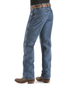 Wrangler 31MWZ Cowboy Cut Relaxed Fit Jeans , Stonewash, hi-res