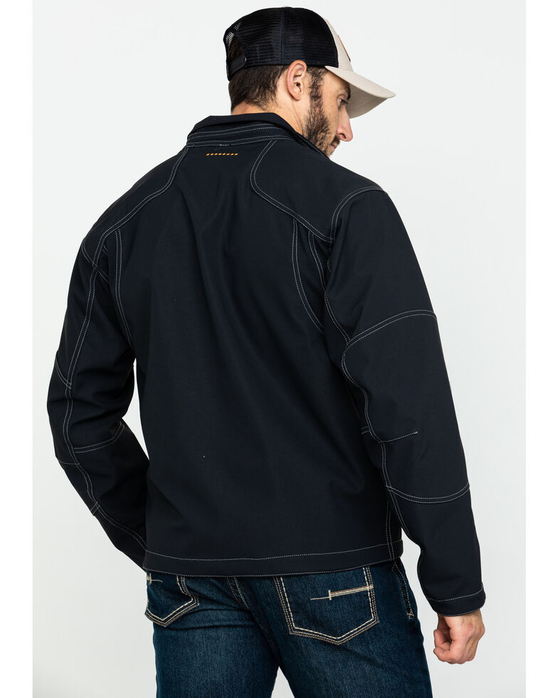 Ariat Men's Rebar Canvas Softshell Work Jacket , Black, hi-res