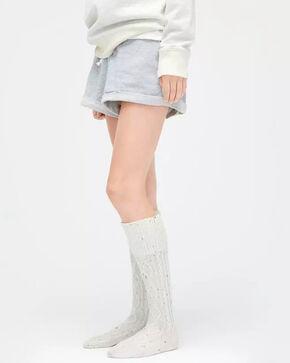 UGG Women's Cream Shaye Tall Rain Boot Socks, Cream, hi-res