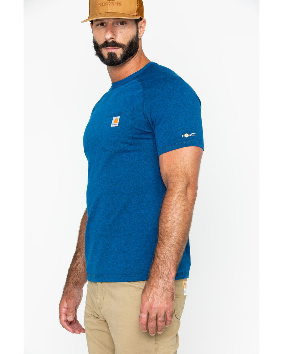 Carhartt Men's Short Sleeve Force T-Shirt, Navy, hi-res