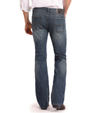 Rock & Roll Cowboy Men's Reflex Pistol Boot Cut Jeans, Dark Blue, hi-res