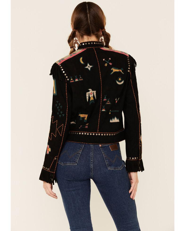 Double D Ranch Women's Gathered Stories Zip-Front Jacket , Black, hi-res