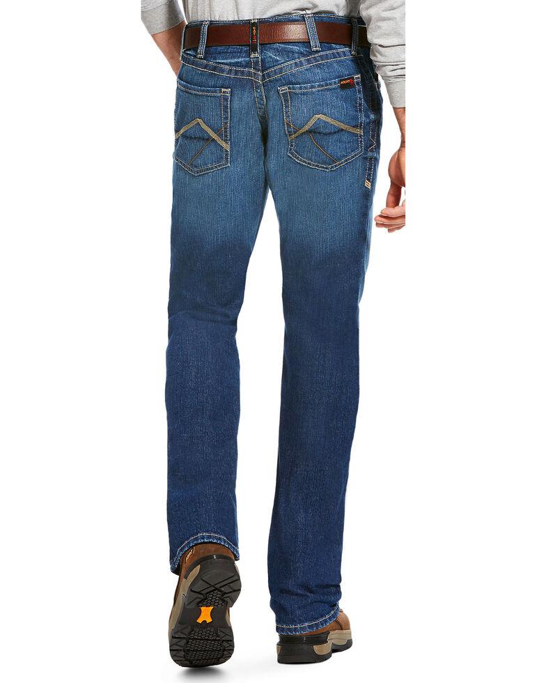 Ariat Men's FR M4 Stitched Incline Titanium Wash Bootcut Jeans , Charcoal, hi-res