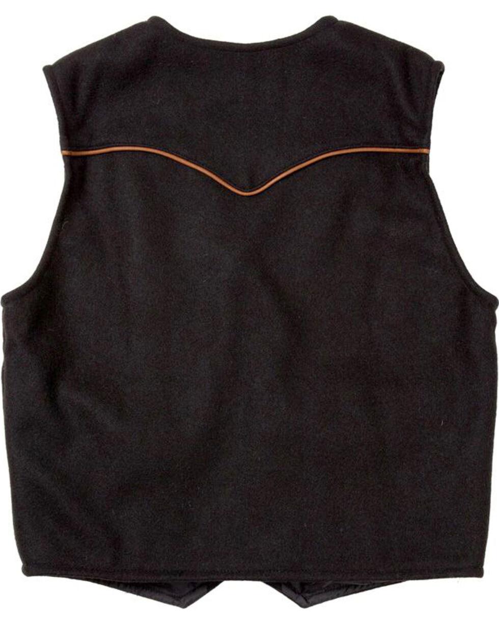 Schaefer Outfitter Men's Black Stockman Melton Wool Vest - 2XLT, Black, hi-res