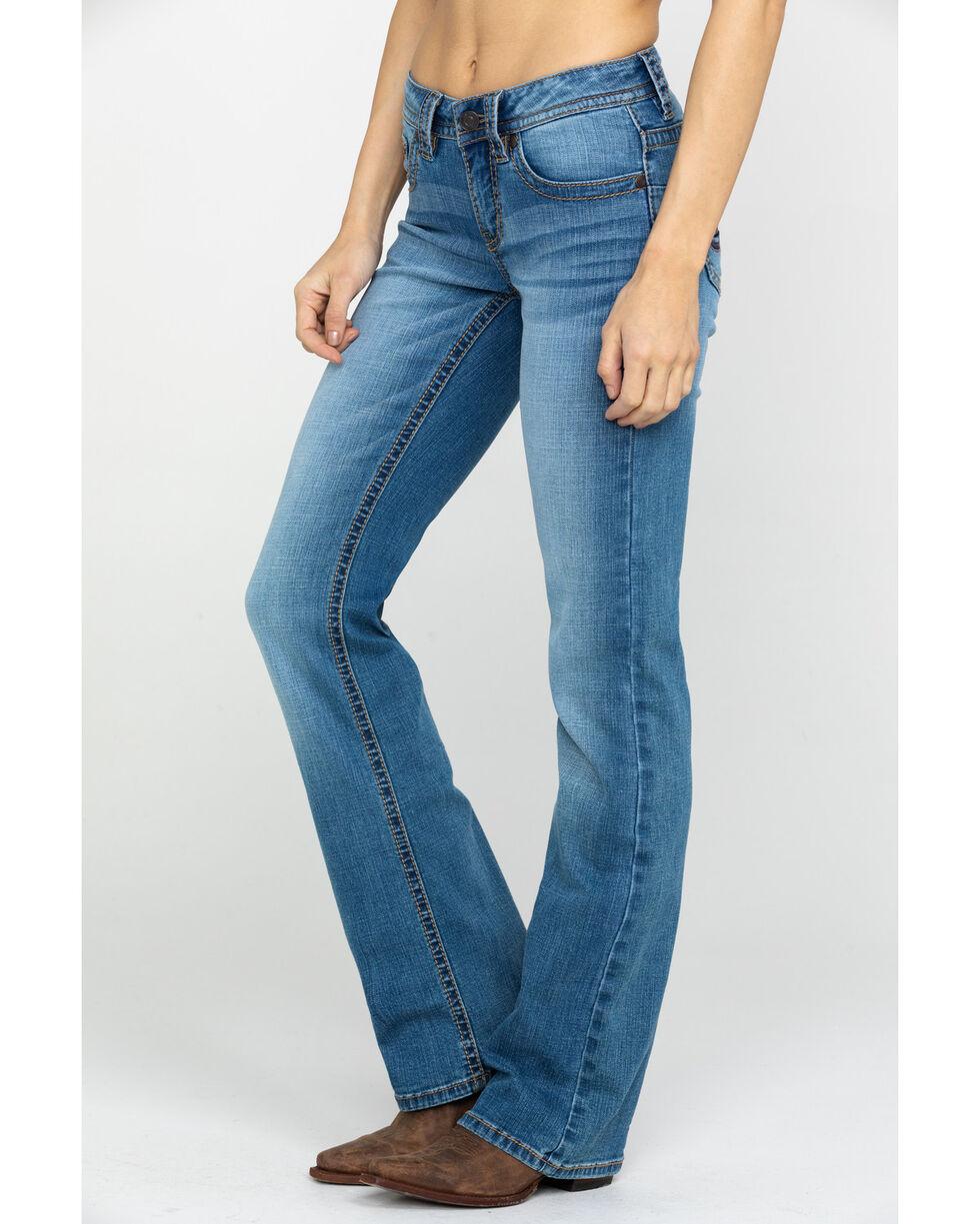 Shyanne Life Women's Crosshatch Riding Jeans, Blue, hi-res