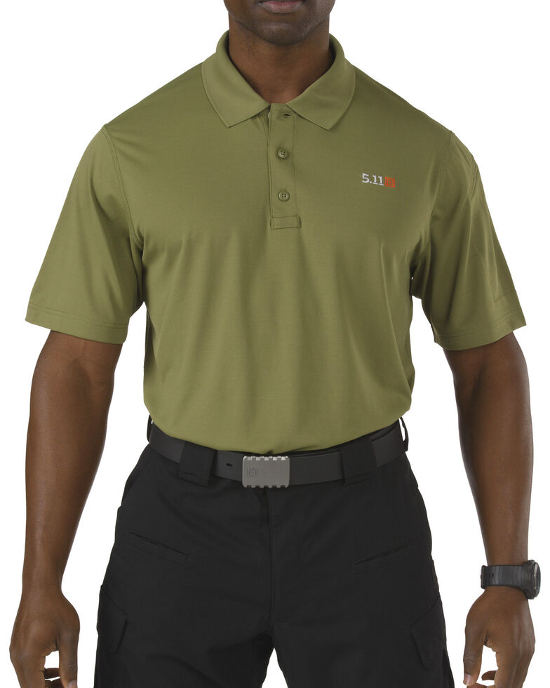 5.11 Tactical Pinnacle Short Sleeve Polo, Fatigue, hi-res