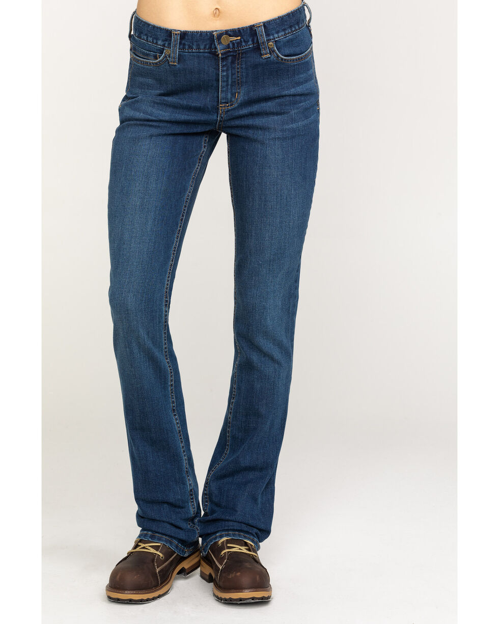 Carhartt Women's Slim Fit Layton Jeans - Boot Cut, Indigo, hi-res