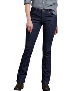 Dickies Women's Perfect Shape Denim Bootcut Jeans, Indigo, hi-res
