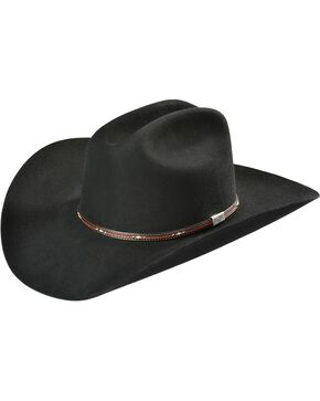 George Strait by Resistol 6X Kingman Felt Hat, Black, hi-res