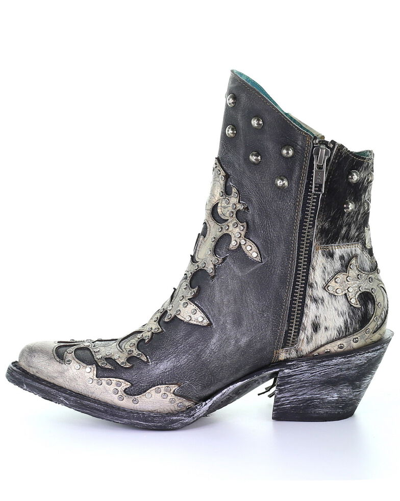 Corral Women's Metallic Overlay Fashion Booties - Pointed Toe, Multi, hi-res
