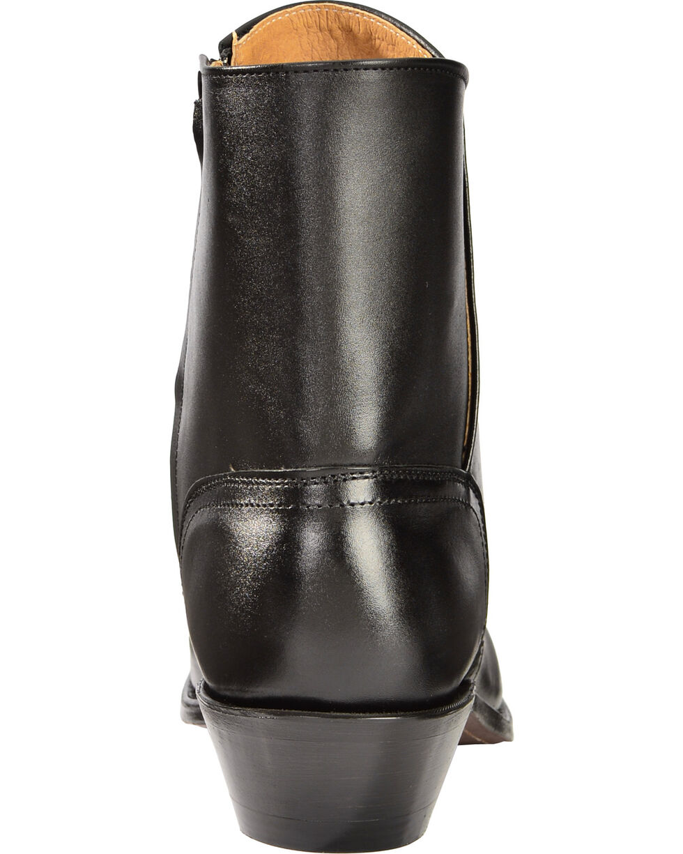 Boulet Side Zip Ankle Boots - Square Toe, Black, hi-res
