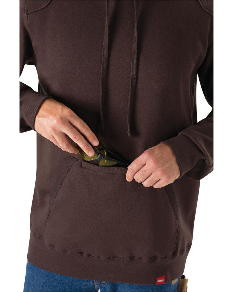 Red Kap Men's Brown Workwear Pull-Over Heavyweight Hooded Sweatshirt, Dark Brown, hi-res