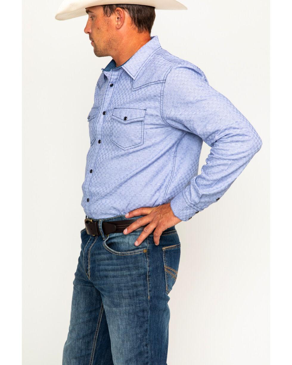 Cody James Men's Giddings Basketweave Long Sleeve Western Snap Shirt, , hi-res