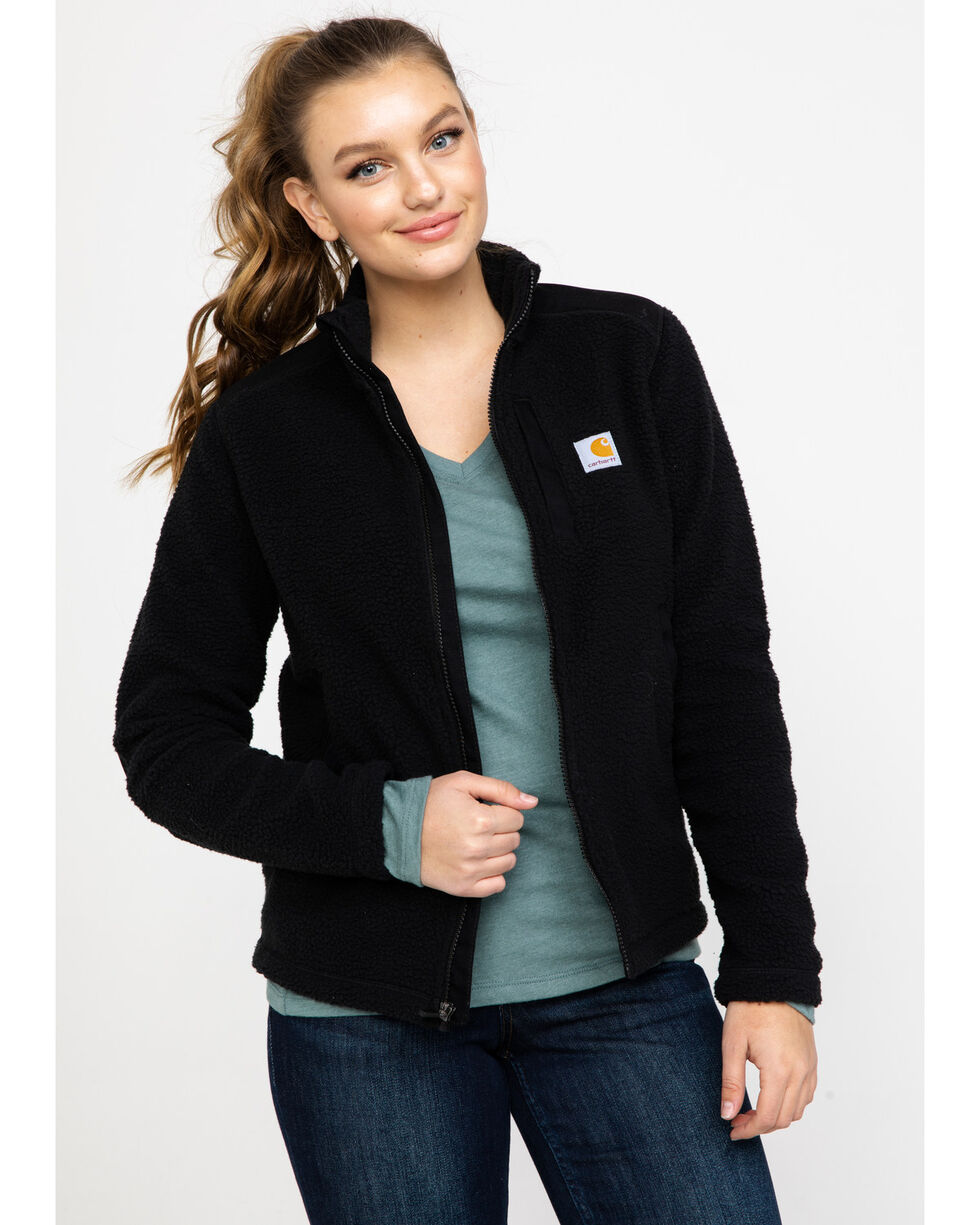 Carhartt Women's Yorklyn Mock Neck Full-Zip Jacket , Black, hi-res