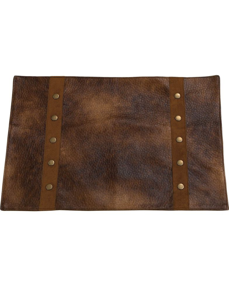HiEnd Accents Rustic Faux Leather Placemats, Brown, hi-res