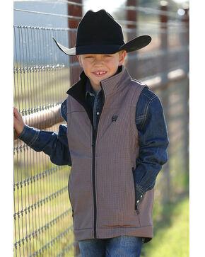 Cinch Boys' Match Dad Print Bonded Vest, Grey, hi-res