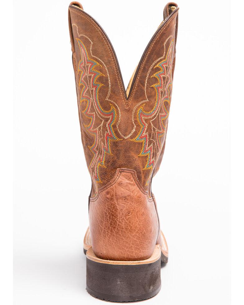 Tony Lama Men's Smooth Ostrich Cowboy Crepe Western Boots, Dark Brown, hi-res