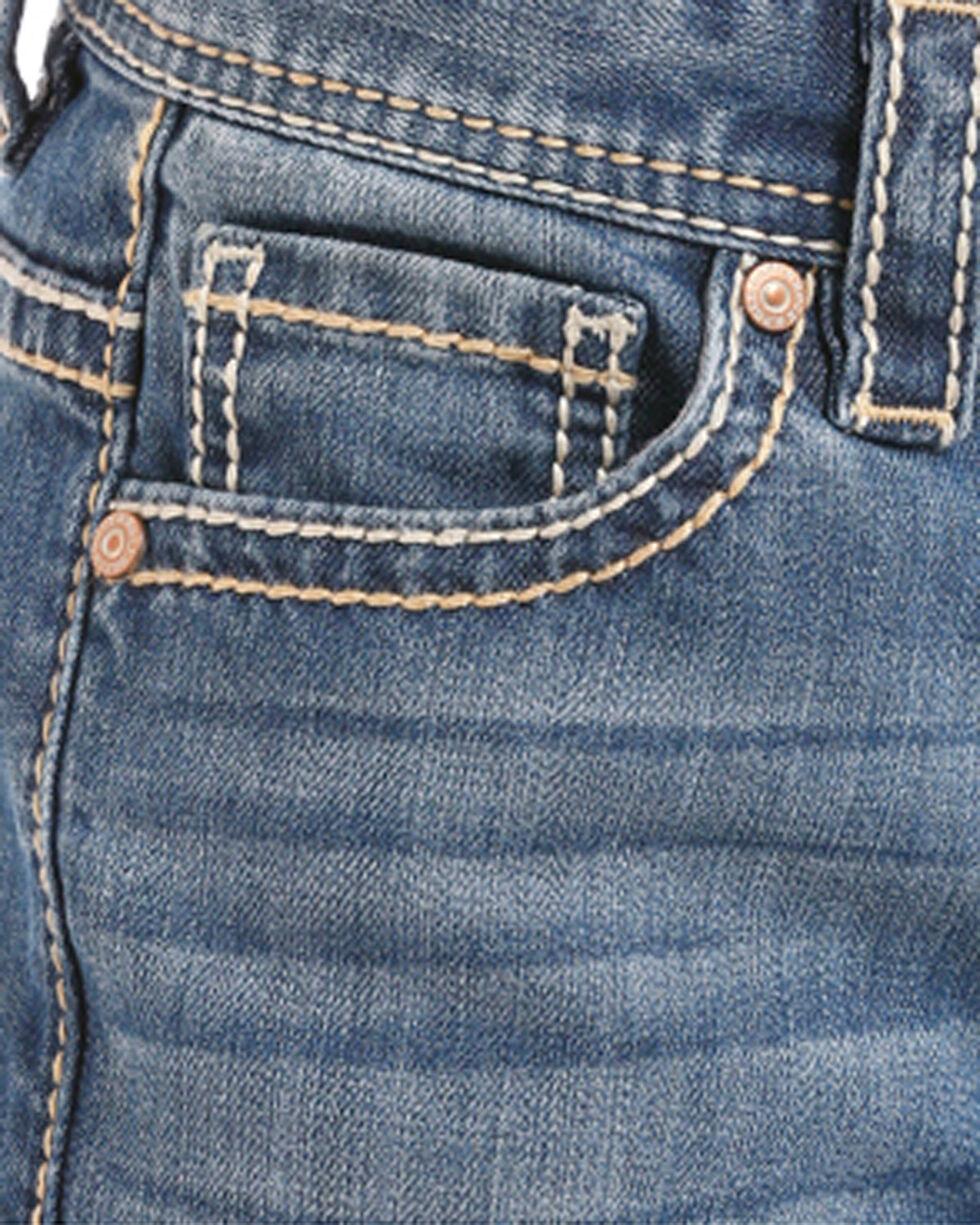 Rock & Roll Cowboy Boys' Khaki Embroidered Boot Cut Jeans - (4-20) , Indigo, hi-res