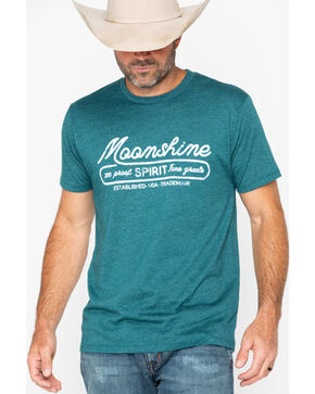 Moonshine Spirit Men's Trademark Logo T-Shirt, Teal, hi-res