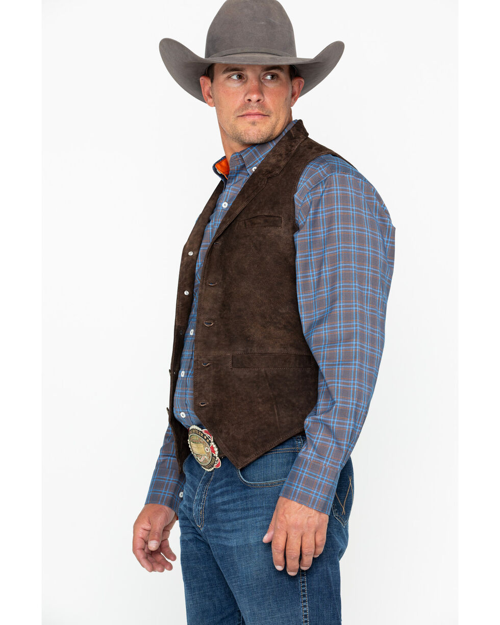 Ryan Michael Men's Flat Creek Vest , Brown, hi-res