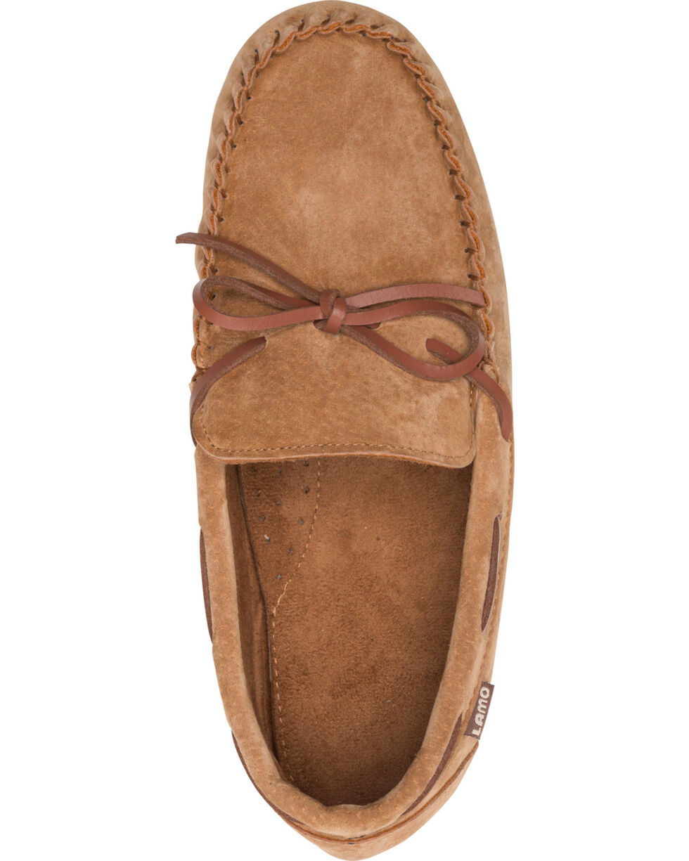 Lamo Men's Aiden Suede Lace Moccasins - Moc Toe, Chestnut, hi-res