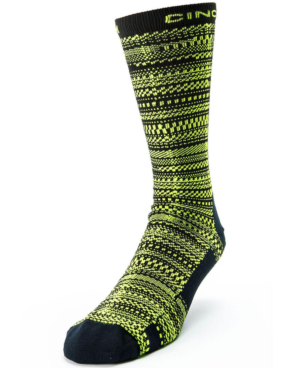 Cinch Men's Neon Crew Socks, Wine, hi-res