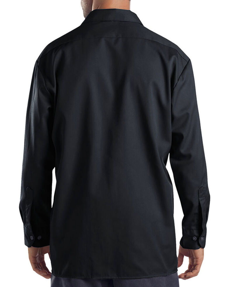 Dickies Men's Black Hanging Long Sleeve Work Shirt , Black, hi-res