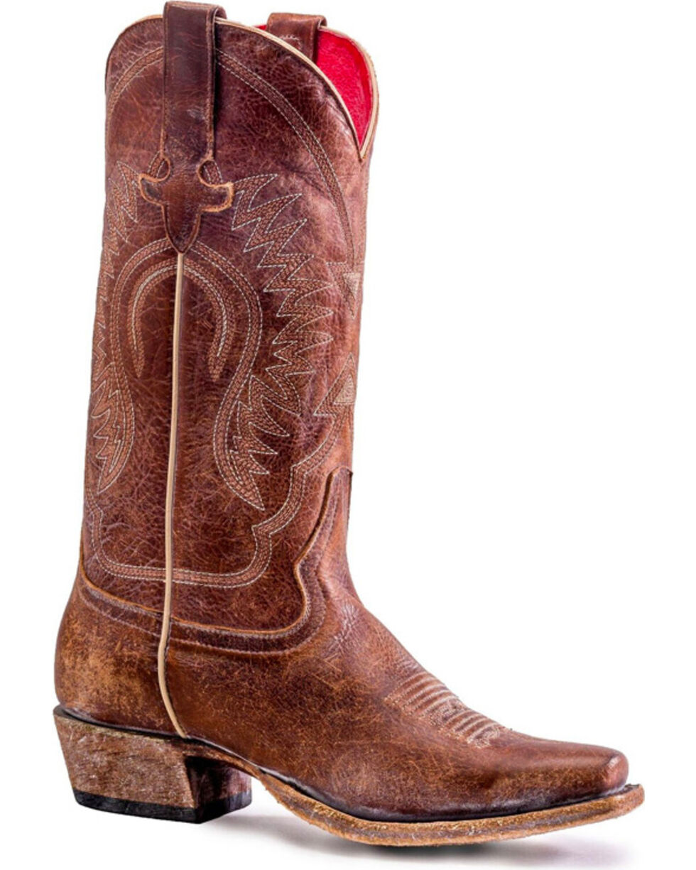 Macie Bean Women's Gringa Goes To Town Boots - Snip Toe , Brown, hi-res