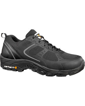 Carhartt Men's Lightweight Low Black Work Hiker Shoes - Steel Toe, Black, hi-res