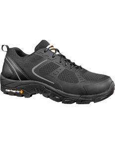 Carhartt Men's Lightweight Low Black Work Hiker Shoes - Steel Toe, Black, hi-res