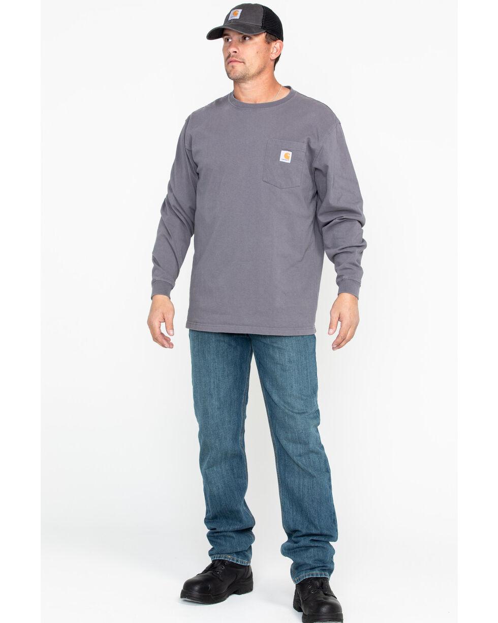 Carhartt Men's Long Sleeve Work T-Shirt, Medium Grey, hi-res