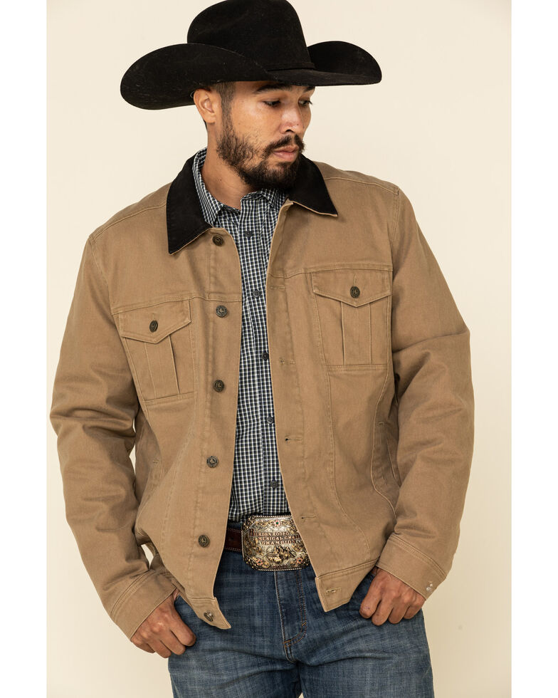 Cody James Men's Ozark Washed Down Rancher Jacket - Tall , Lt Brown, hi-res