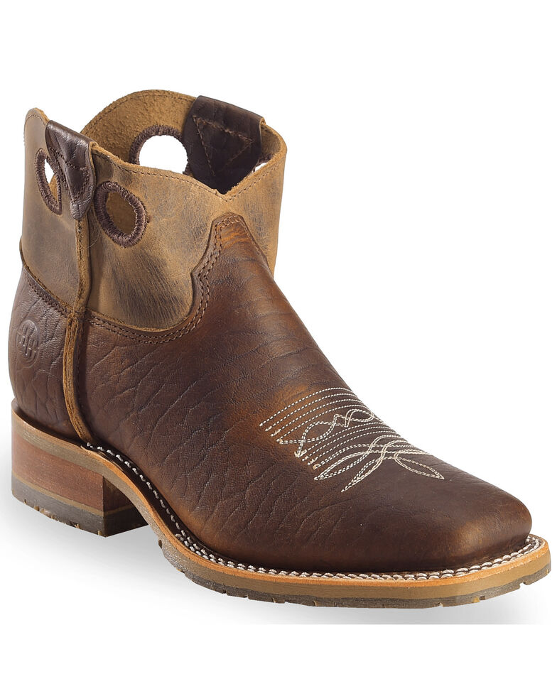 Double H Men's Brown Domestic I.C.E Booties - Square Toe, Brown, hi-res