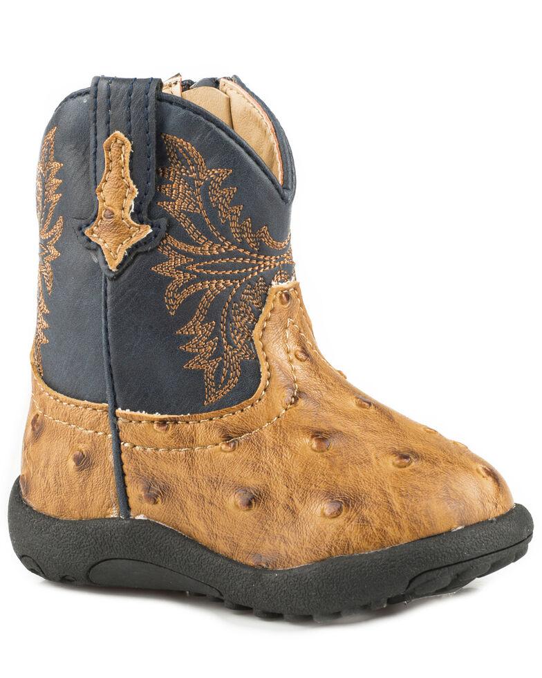 Roper Infant Boys' Cowboy Cool Cowbabies Boots - Round Toe, Tan, hi-res
