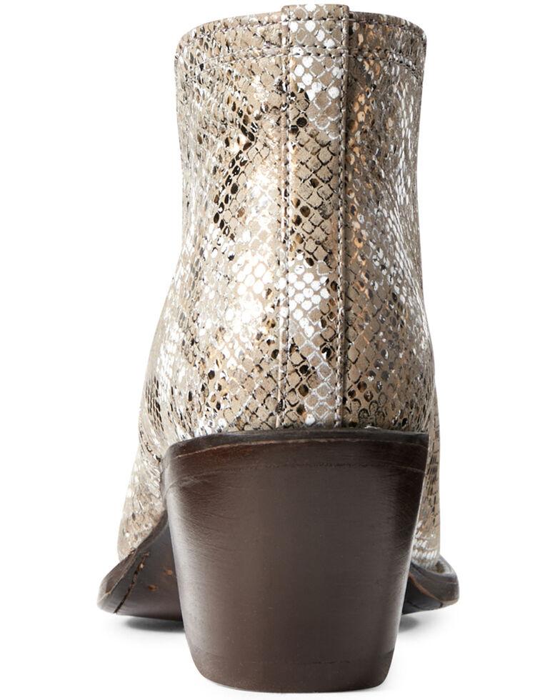 Ariat Women's Dixon Metallic Snake Print Fashion Booties - Snip Toe, Multi, hi-res