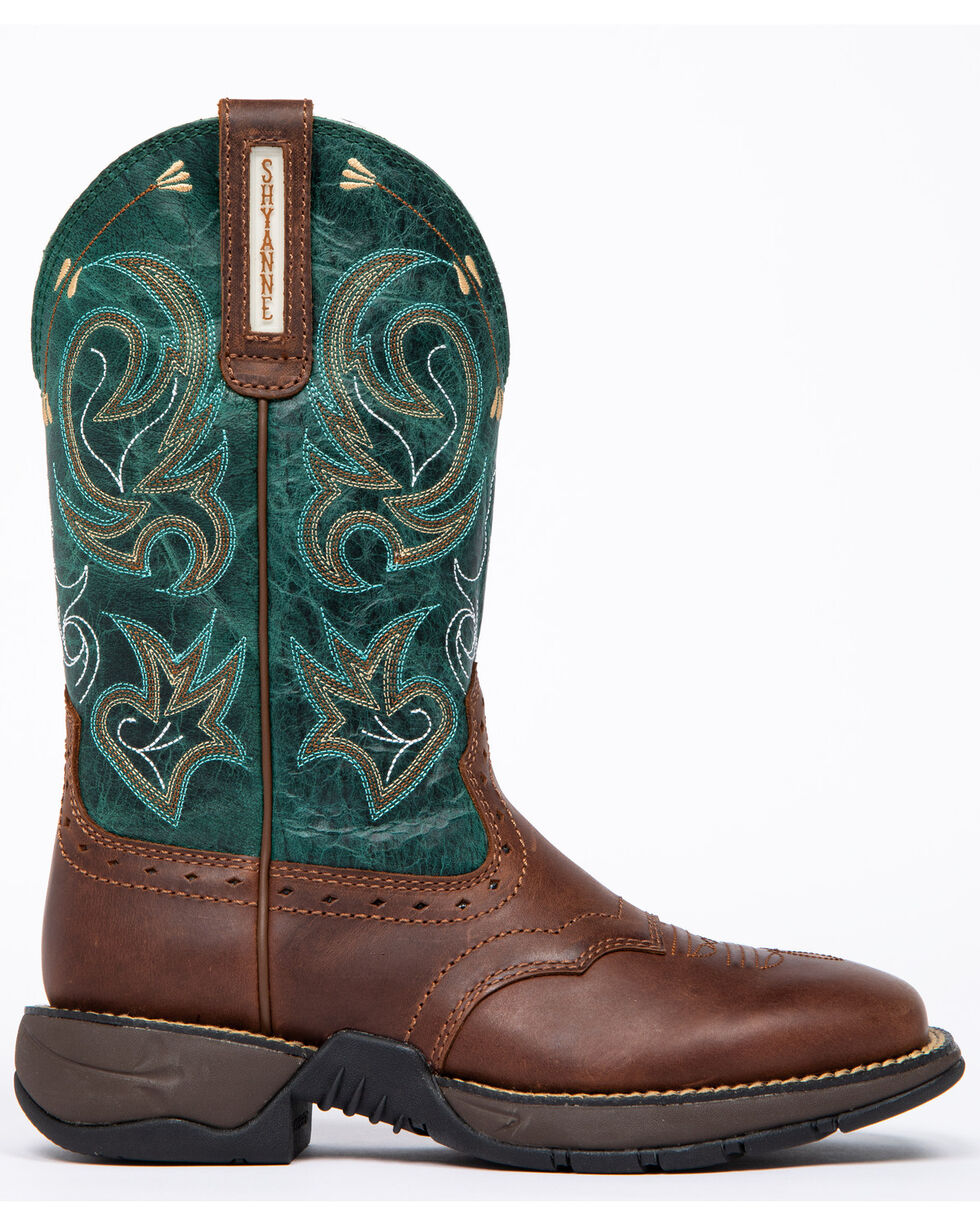 Shyanne Women's Xero Gravity Lite Turquoise Western Boots - Wide Square Toe, Brown, hi-res