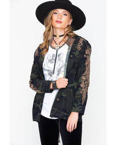 Johnny Was Women's Miloqui Drawstring Embroidered Military Coat , Camouflage, hi-res