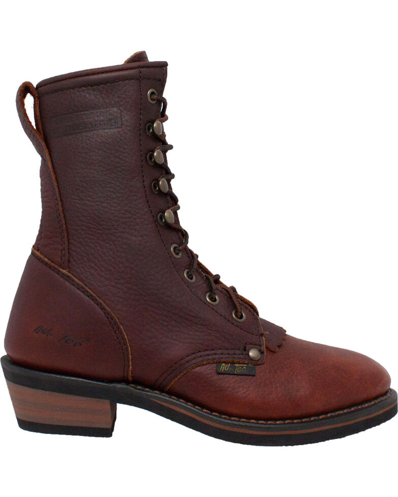 """Ad Tec Women's Chestnut 8"""" Leather Packer Boots - Soft Toe, , hi-res"""