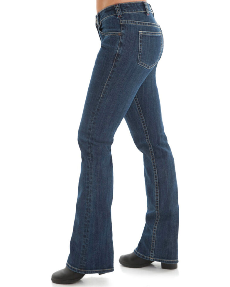 Cowgirl Tuff Women's Medium Wash Boot Cut Jeans, Blue, hi-res