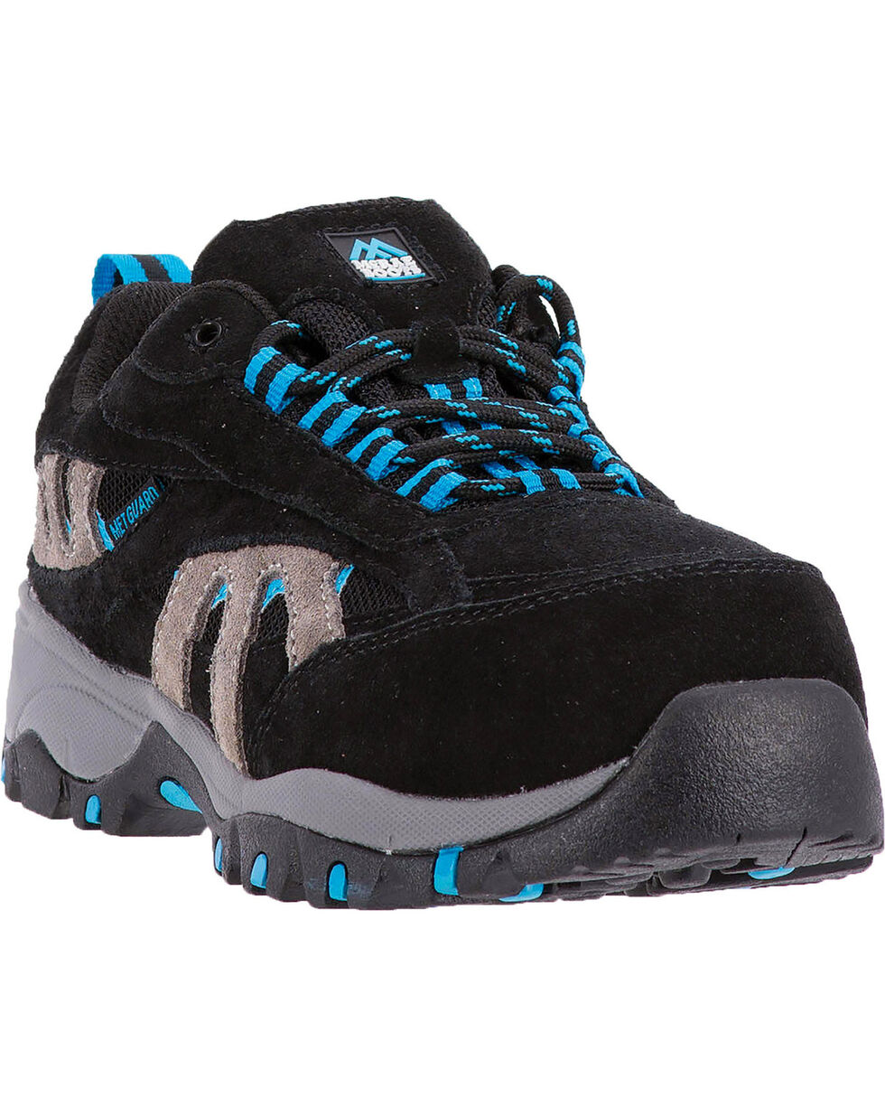 McRae Women's Suede Met Guard Work Shoe - Composite Toe, Black, hi-res