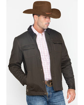 Cody James Core Men's Canvas Timberwolf Jacket , Brown, hi-res