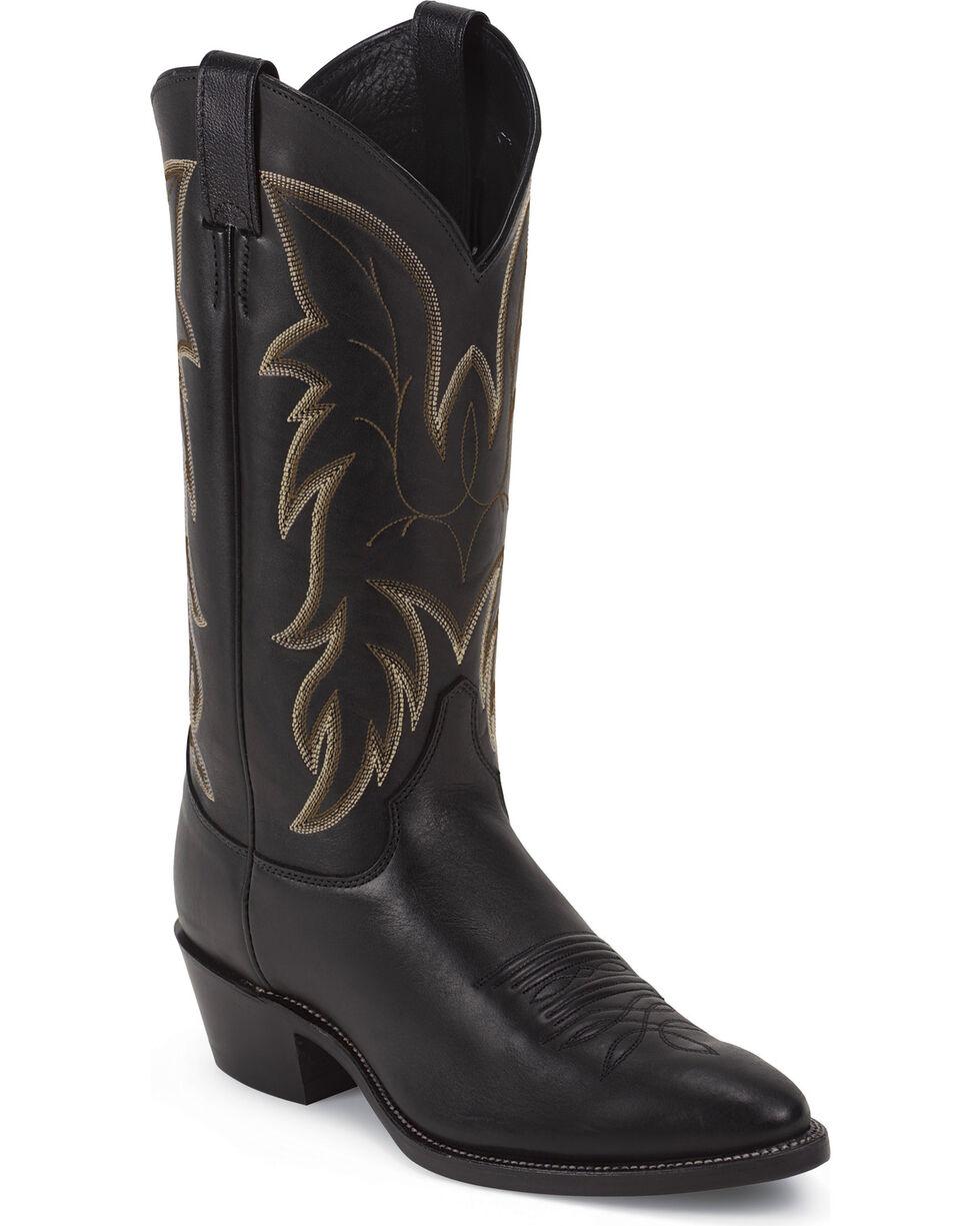 Justin Men's Classic Western Boots, Black, hi-res