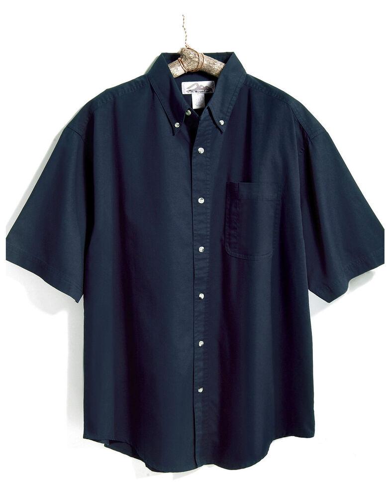 Tri-Mountain Men's Navy Solid Recruit Short Sleeve Work Shirt - Big , Navy, hi-res